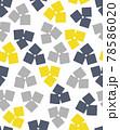 北欧風の花のシームレスパターン 78586020
