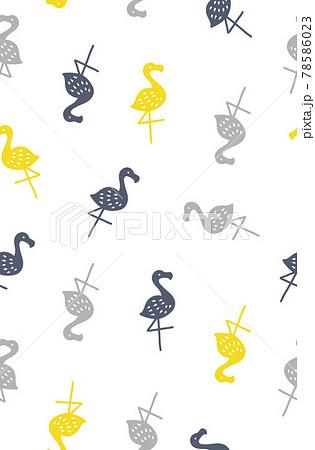 フラミンゴのシームレスパターン 78586023