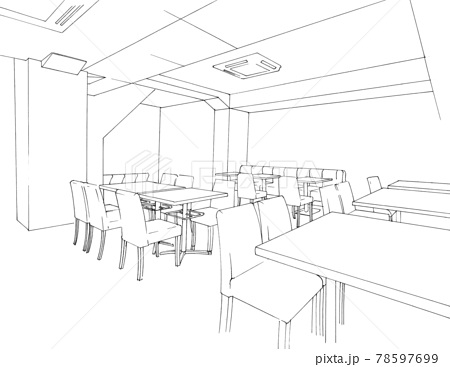 漫画背景用「カフェ」 78597699