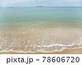 海水浴場の波打ち際 78606720
