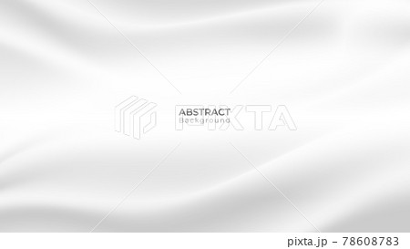 Abstract modern fabric background. White and grey wavy silk texture. vector art illustration 78608783