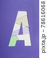 アルファベッド文字Aマークのイメージ素材 78616068