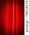 スポットライトが当たっているレッドカーテン背景_縦位置(ベクターあり) 78619478