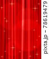 スポットライトが当たっているキラキラしたレッドカーテン背景_縦位置(ベクターあり) 78619479