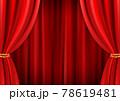 高級感のあるレッドカーテン背景(ベクターあり) 78619481
