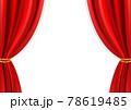 高級感のあるレッドカーテン(透過素材、ベクターあり) 78619485