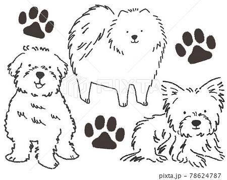 小型犬イラスト 78624787