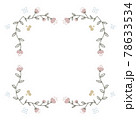 シックなピンクと紫のお花と実のフレーム 78633534