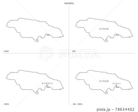 白地図-アメリカ大陸-ジャマイカ 78634402