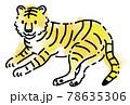 虎のシンプルタッチイラスト 78635306