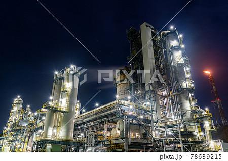コンビナート・工場の夜景  78639215