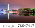Washington DC, USA at the tidal basin with Washington Monument 78647417