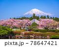 Fujinomiya, Shizuoka, Japan with Mt. Fuji 78647421