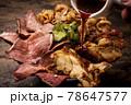 三種類の肉丼 ローストビーフ 豚肉のスタミナ焼き ジャークチキン 78647577