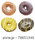 Donuts  Isolated on White Background 78651340