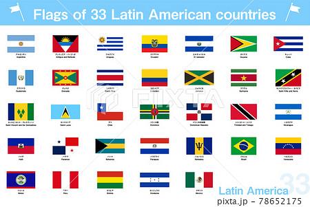 世界の国旗 中南米の33か国セット 78652175