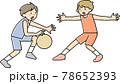 バスケをする男の子 78652393