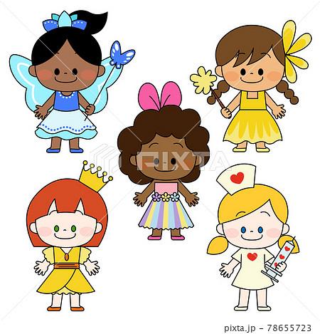 仮装をした世界の子供たち 78655723