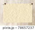 白い木目に和紙 ピン止め フレーム 背景素材 78657237