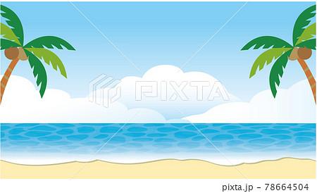 南国 海 浜辺 背景 78664504