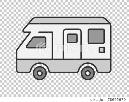 キャンピングカーのイラスト 78665670