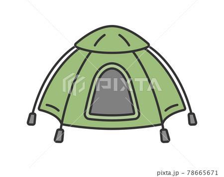 キャンプ用のテントのイラスト 78665671