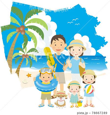 夏休みに家族で旅行 78667289