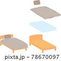 ベッドと寝具一式 78670097