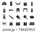 キャンプ用品のアイコンセット 78683953