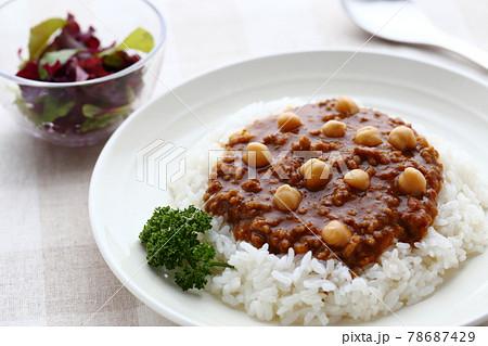 ひよこ豆のキーマカレー 78687429