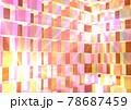 幾何学的模様 モザイク ブロック 発光 背景 壁紙 78687459