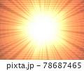 キラキラ 爆発 発光 放射状 吹き出し 文字スペース 説明書き(オレンジ) 78687465
