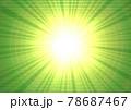 キラキラ 爆発 発光 放射状 吹き出し 文字スペース 説明書き(緑色) 78687467