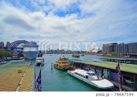 シドニー・オペラハウスとハーバーブリッジ 78687594