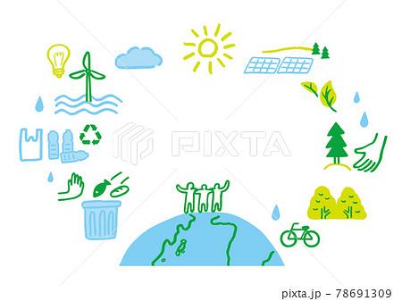 地球 環境 CO2削減  78691309