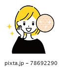 綺麗な肌 女性 78692290