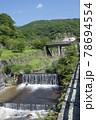 栃木県那須の殺生石から流れてくる川の風景 78694554