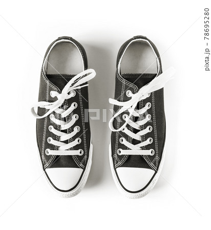 Black sneakers isolated on white background 78695280