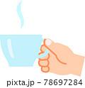 ティーカップを持つ右手 78697284