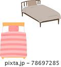 ベッドのイラストセット 78697285