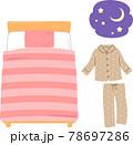 ベッドとパジャマ 78697286