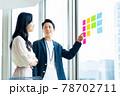 打ち合わせをするビジネスパーソン 撮影協力「+SHIFT NOGIZAKA」 78702711