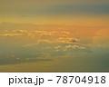 飛行機からの空撮と夕景(シンガポール) 78704918