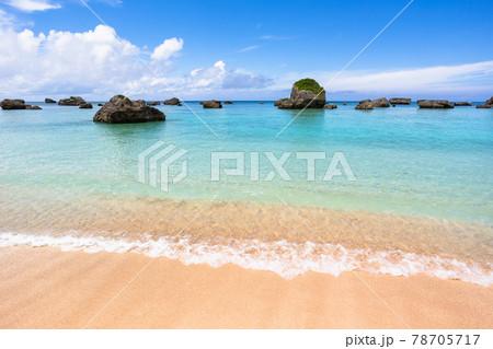沖縄県宮古島、東平安名崎の保良漁港周辺・日本 78705717