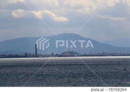 与島サービスエリアの展望台から丸亀市、大麻山方面を望む 別アングル 78709264