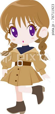ガーリーファッションの女の子 78711923
