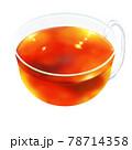 グラスにいれた紅茶 78714358