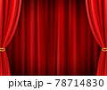 高級感のあるレッドカーテン背景(ベクターあり) 78714830