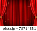 高級感のあるキラキラしたレッドカーテン背景(ベクターあり) 78714831