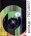 衝撃で画面が割れた液晶テレビ 縦 78718057
